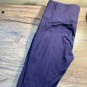 Purple lululemon capri